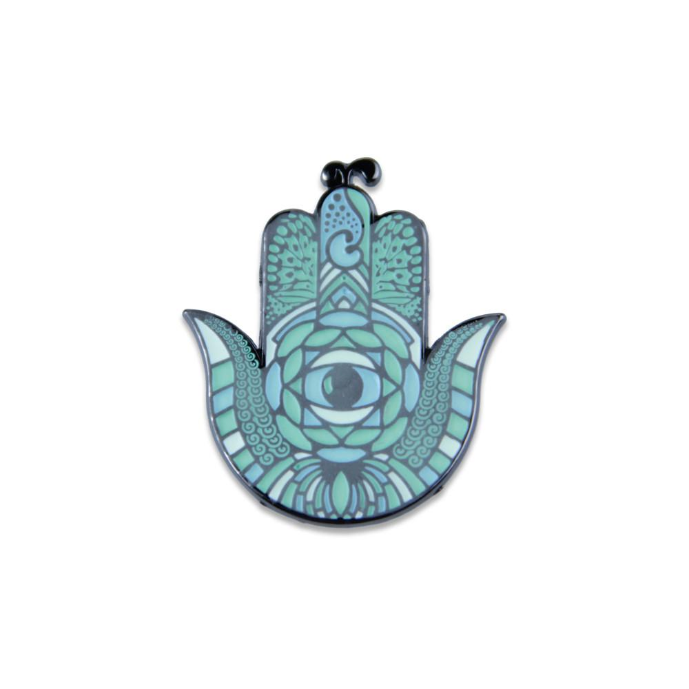 Snow Hamsa Glow Pin - Grassroots California - 1