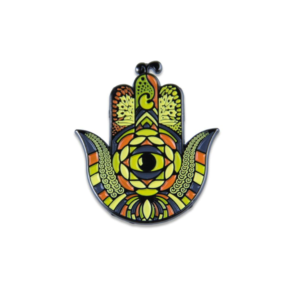 Snow Hamsa Monarch Pin