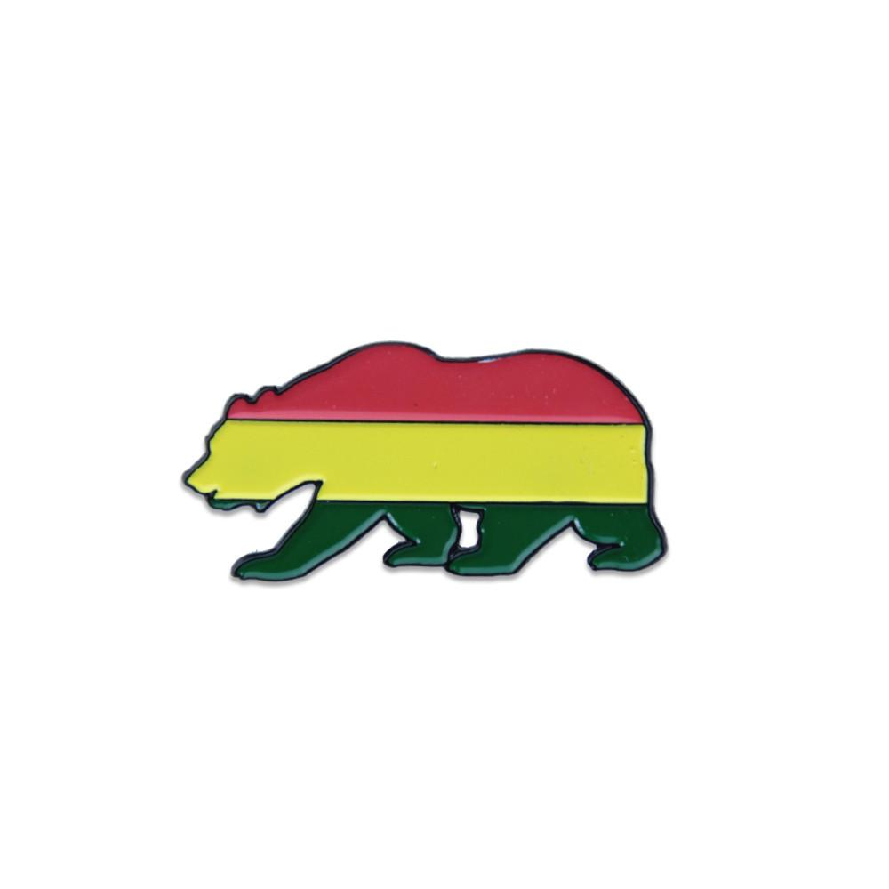 Rasta Bear Pin