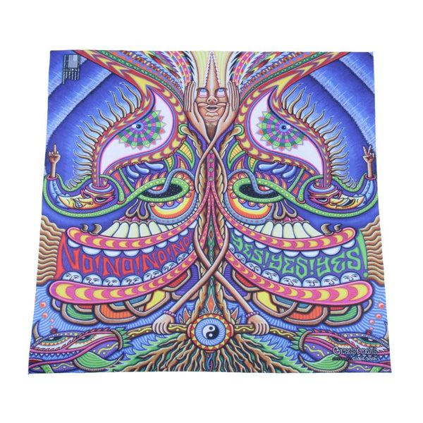 Phunkshun X GRC X Chris Dyer Yes No Bandana - Grassroots California - 1