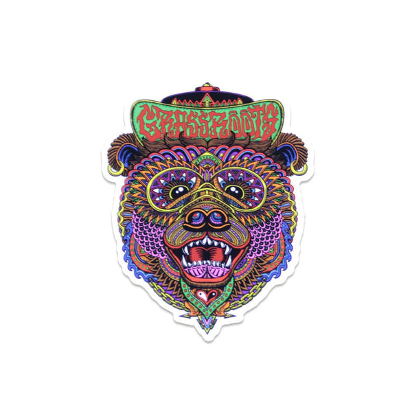 Chris Dyer OG Bear Sticker - Grassroots California