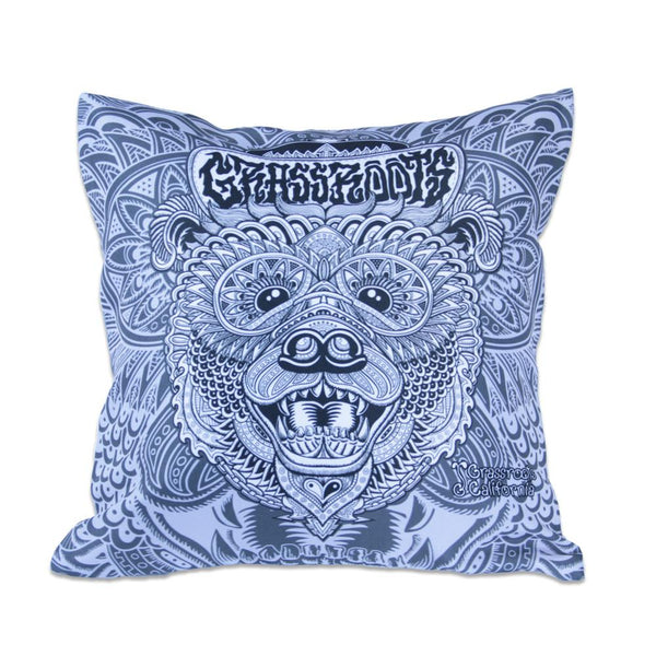 Chris Dyer Bear Black and White Throw Pillow - Grassroots California