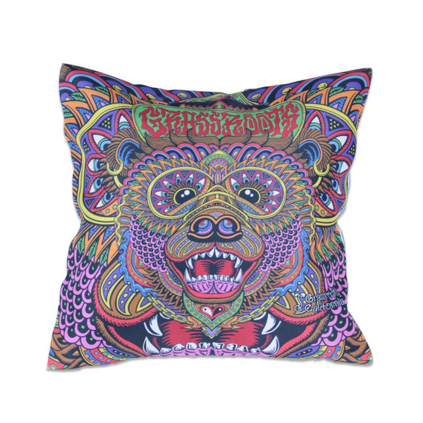 Chris Dyer Bear OG Throw Pillow - Grassroots California