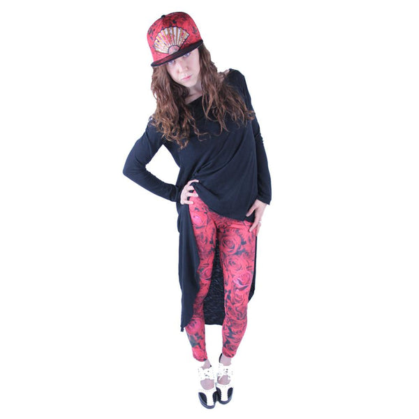 Red Flamenco Leggings - Grassroots California - 1