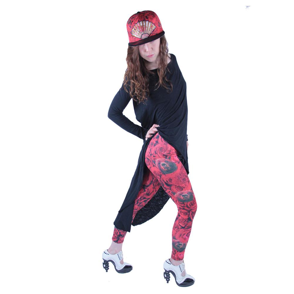Red Flamenco Leggings - Grassroots California - 3