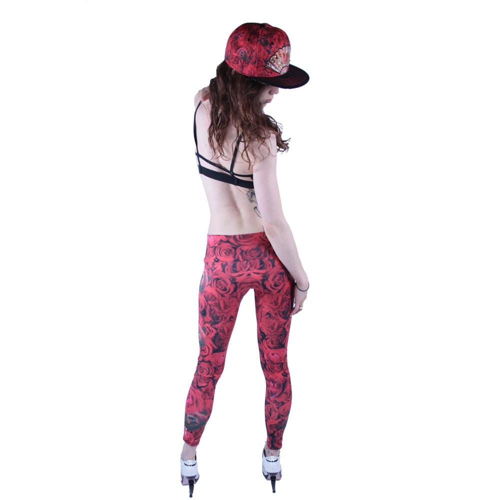 Red Flamenco Leggings - Grassroots California - 5