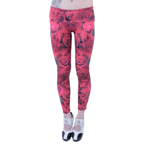 Red Flamenco Leggings - Grassroots California - 2