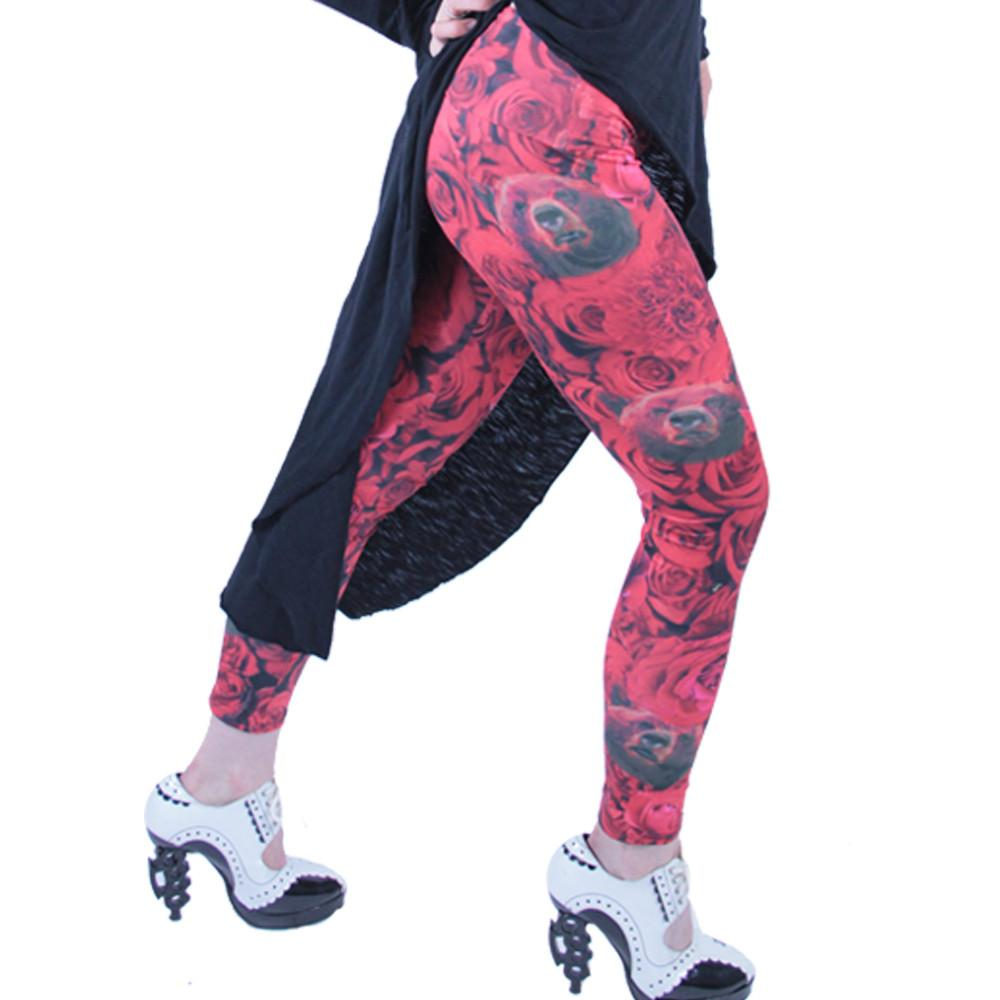 Red Flamenco Leggings - Grassroots California - 4