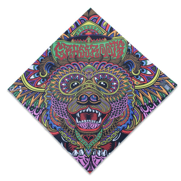 Phunkshun X GRC X Chris Dyer OG Bear Bandana - Grassroots California - 1
