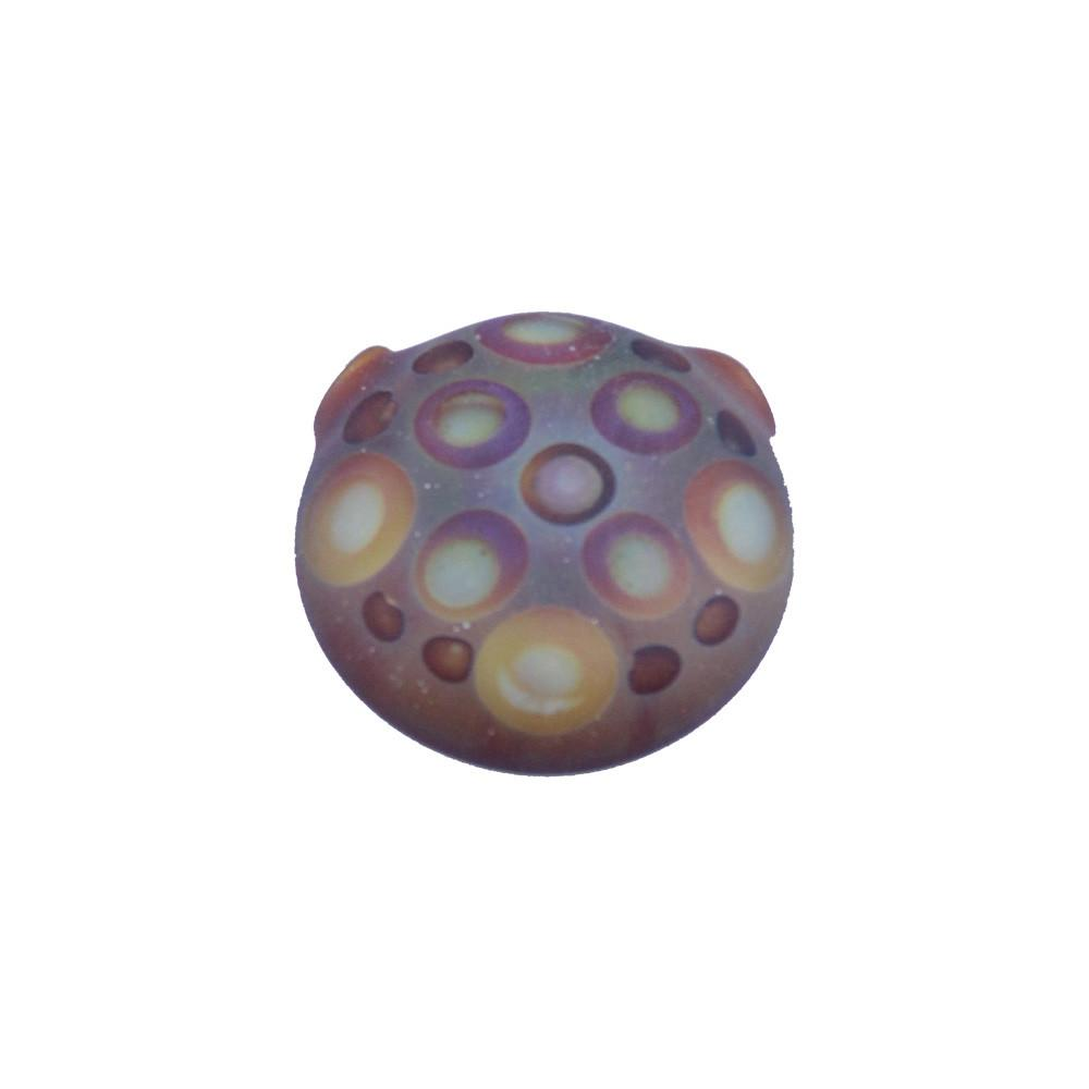 Chad G Yellow/Orange Dots Disk Pendant