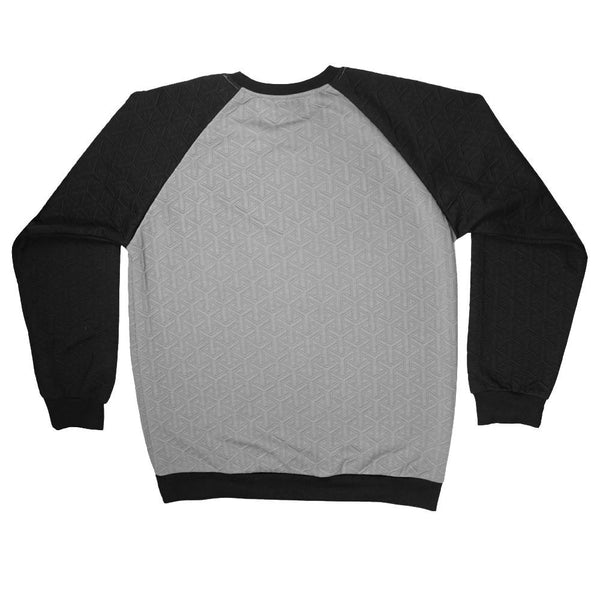 Quilted Black Gray Crew Neck - Grassroots California - 2