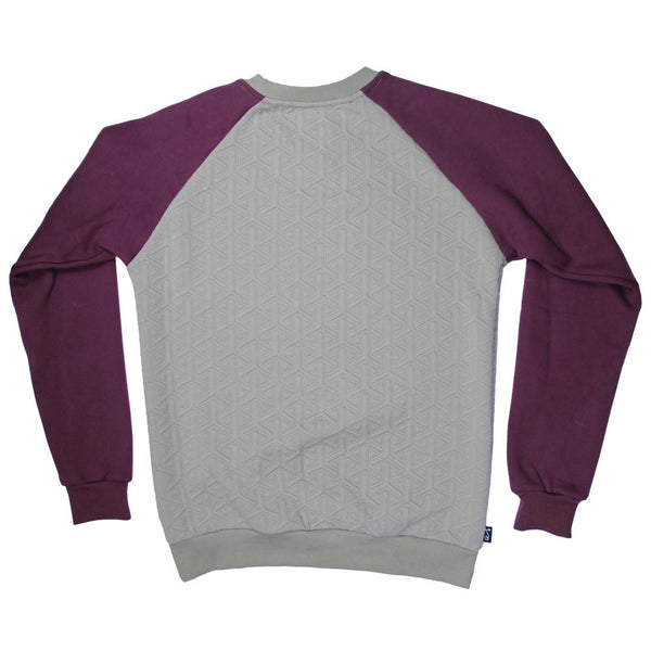 Quilted Maroon Tan Crew Neck - Grassroots California - 2
