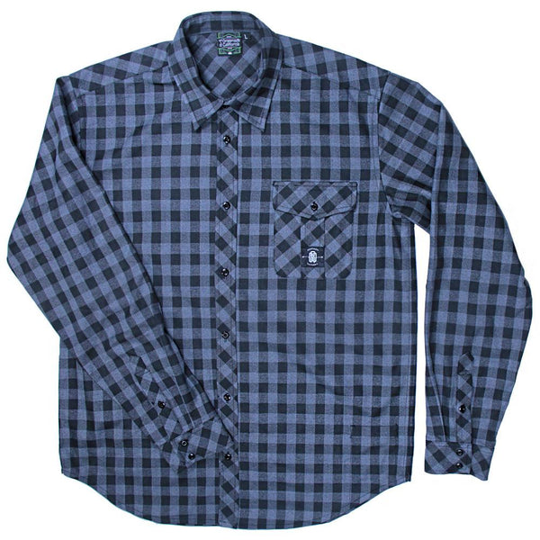 Gray Black Checker Flannel - Grassroots California - 1