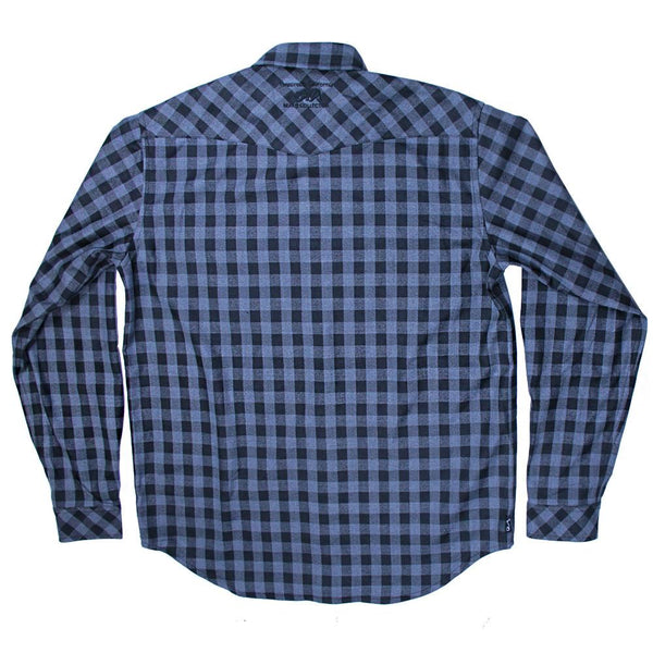 Gray Black Checker Flannel - Grassroots California - 2
