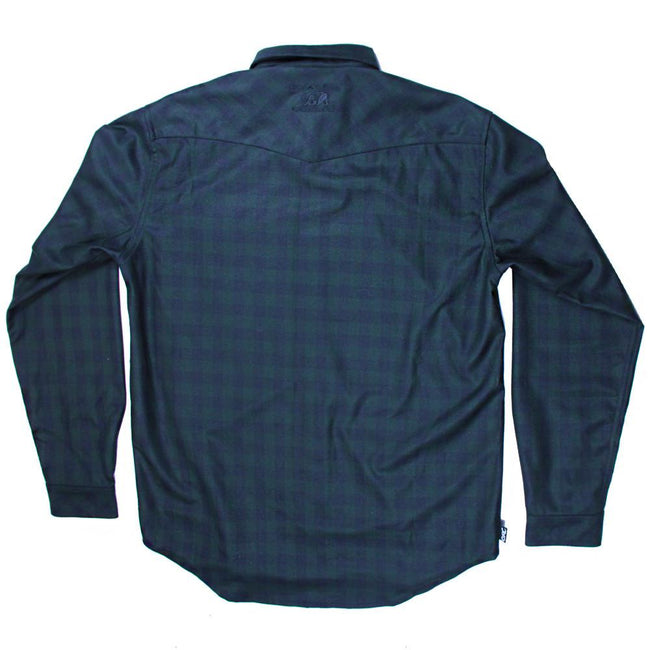 Subtle Green Black Flannel - Grassroots California - 2
