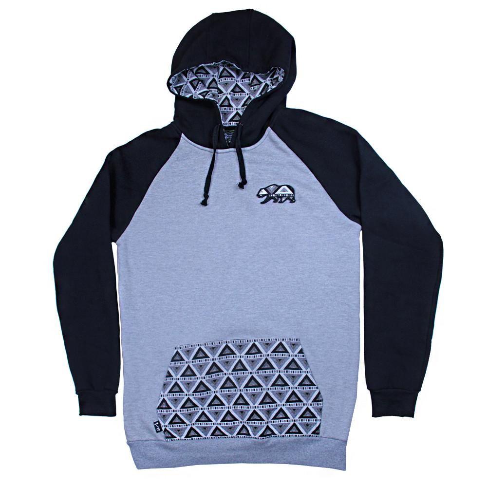 Bear Collection Black White Wingtip Pullover Hoodie