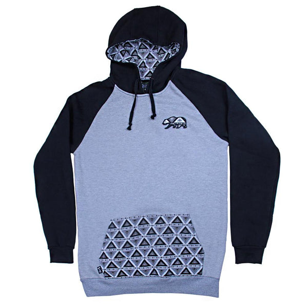 Bear Collection Black White Wingtip Pullover Hoodie - Grassroots California - 1