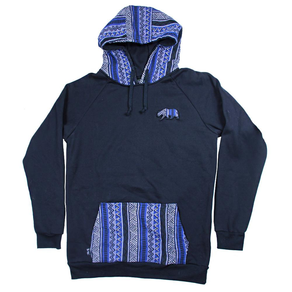 Bear Collection Parka Blue Pullover Hoodie