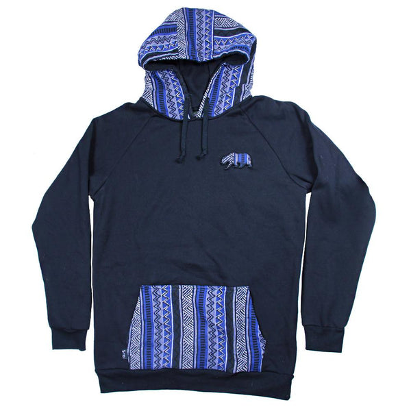 Bear Collection Parka Blue Pullover Hoodie - Grassroots California - 1