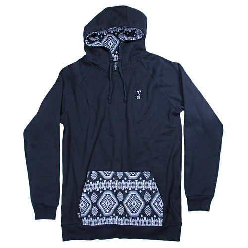 7th Anniversary Native Black Pullover Hoodie - Grassroots California - 1