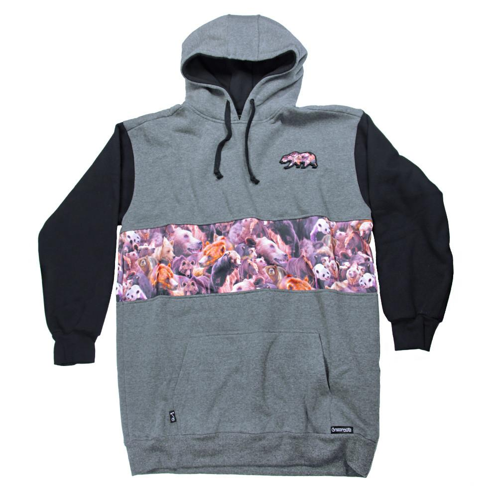 Bear Collection Real Bear All Gray Tall Pullover Hoodie V2