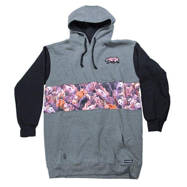 Bear Collection Real Bear All Gray Tall Pullover Hoodie V2 - Grassroots California - 1