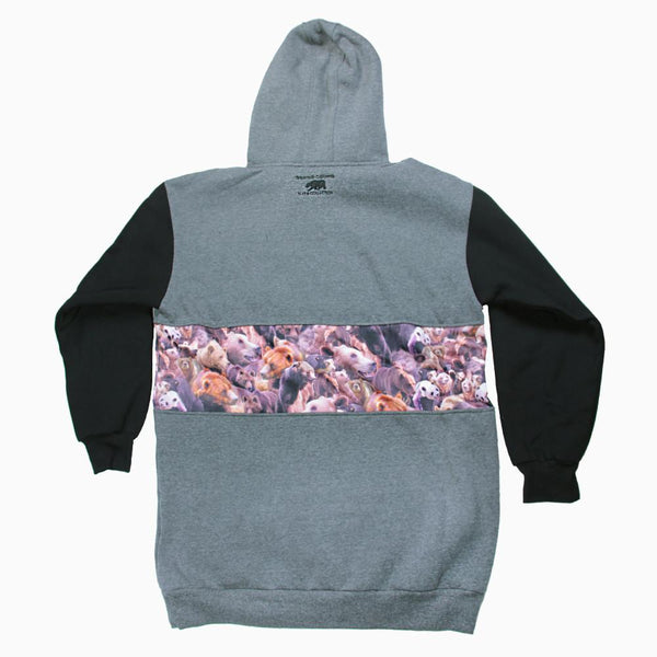 Bear Collection Real Bear All Gray Tall Pullover Hoodie V2 - Grassroots California - 2
