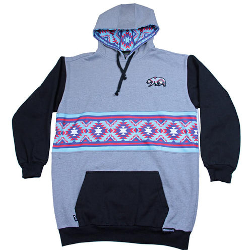 Bear Collection Native Teal Tall Pullover Hoodie - Grassroots California - 1