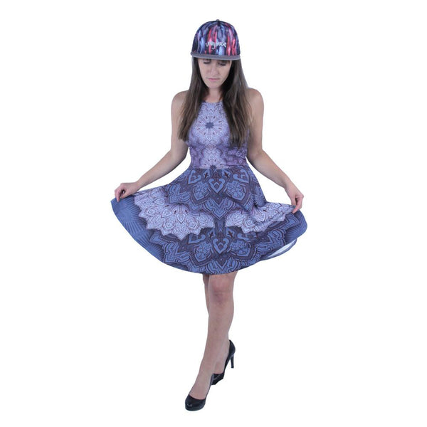 Cassady Bell Purple Mandala Dress - Grassroots California - 1