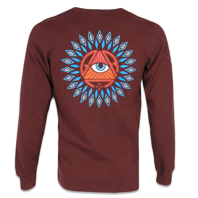 San Pedro Del Sol Burgundy Long Sleeve Shirt