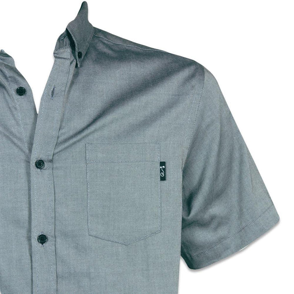 Charcoal Short Sleeve Button Up