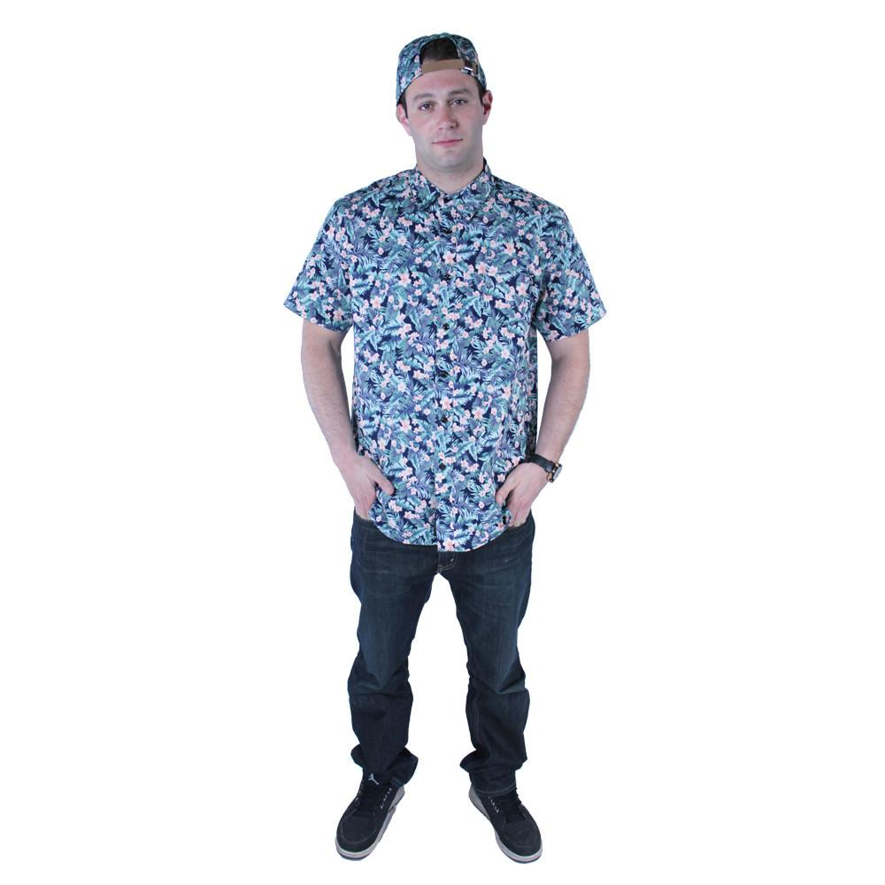 Water Flower Button Up Short Sleeve