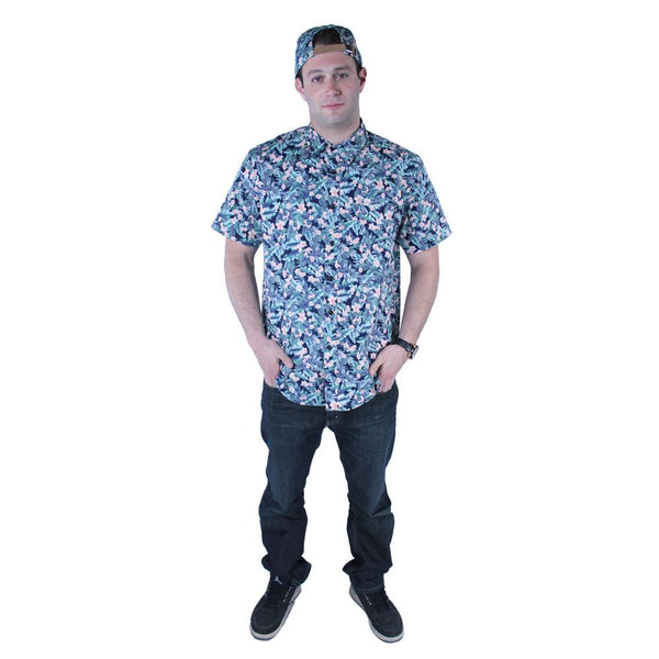 Water Flower Button Up Short Sleeve - Grassroots California - 1