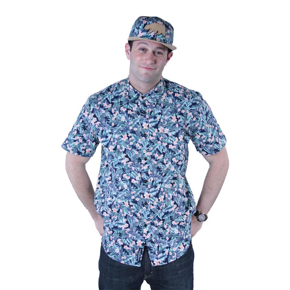 Water Flower Button Up Short Sleeve - Grassroots California - 2