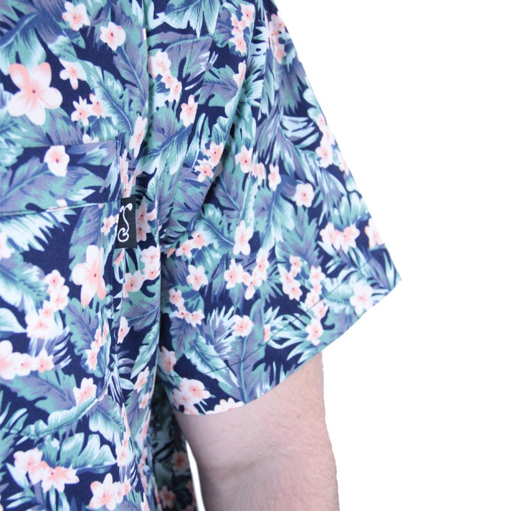 Water Flower Button Up Short Sleeve - Grassroots California - 6