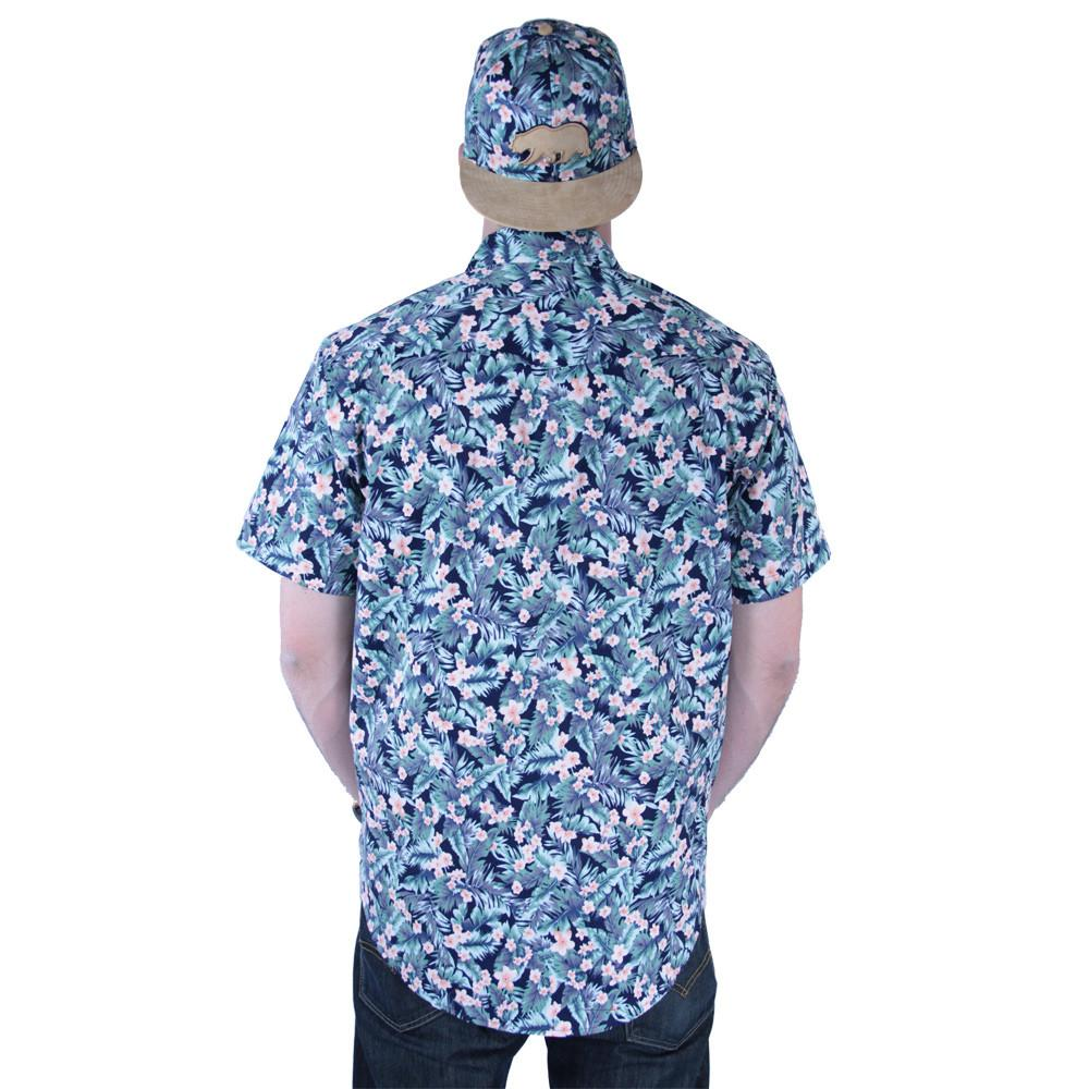 Water Flower Button Up Short Sleeve - Grassroots California - 5