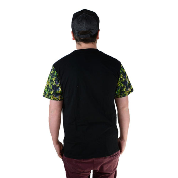 Oil Paint Weed Black Pocket T Shirt - Grassroots California - 2
