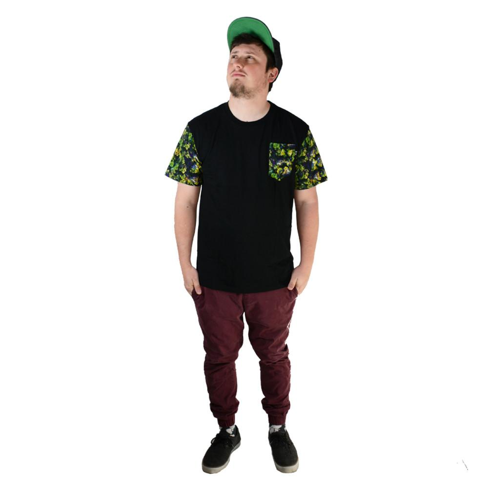 Oil Paint Weed Black Pocket T Shirt - Grassroots California - 3