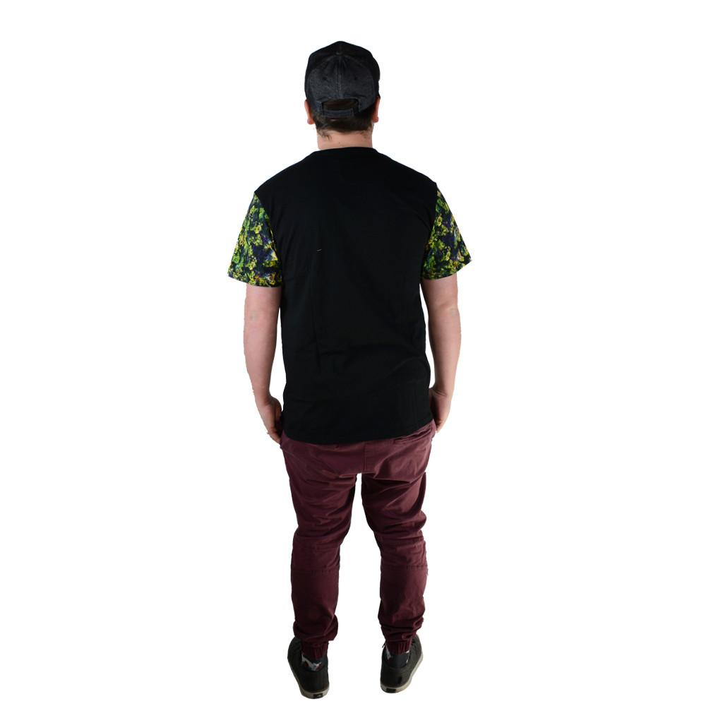 Oil Paint Weed Black Pocket T Shirt - Grassroots California - 4