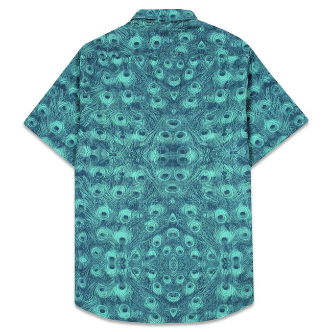 Peacock Teal Button Up Shirt