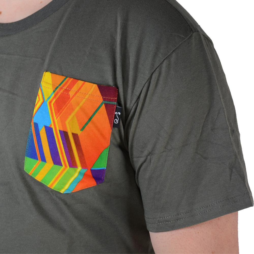 Electric Sunset Pocket T Shirt - Grassroots California - 5