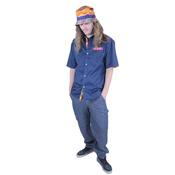 Electric Sunset Button Up Short Sleeve - Grassroots California - 1