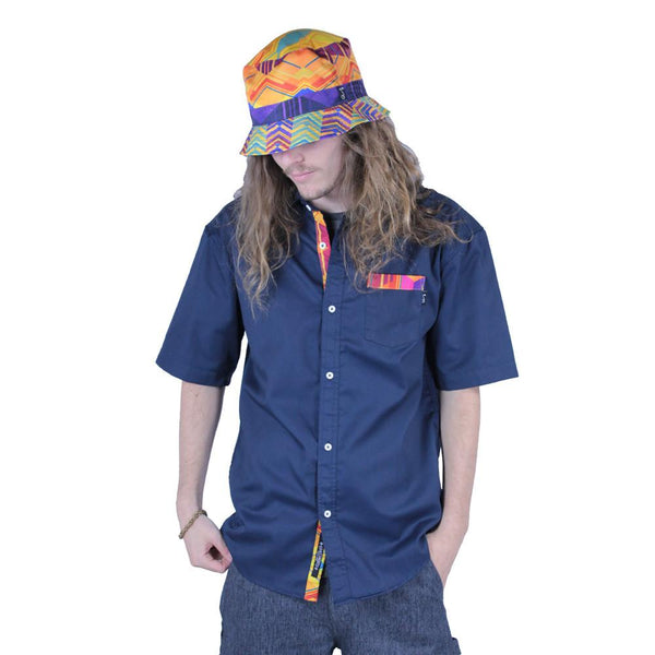 Electric Sunset Button Up Short Sleeve - Grassroots California - 2