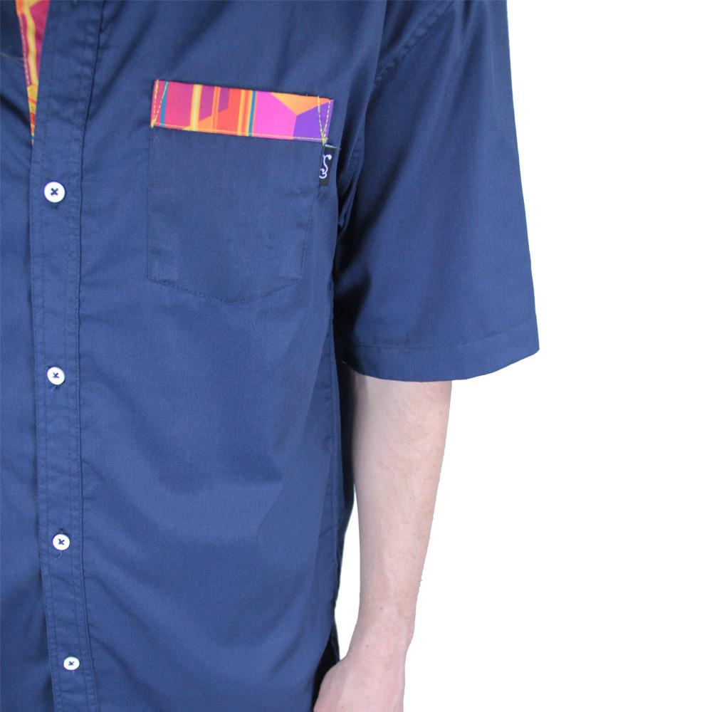 Electric Sunset Button Up Short Sleeve - Grassroots California - 5