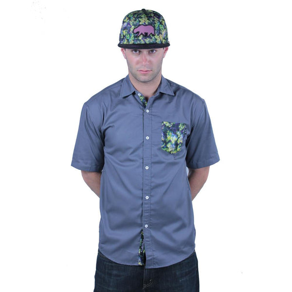 Oil Paint Weed Button Up Short Sleeve - Grassroots California - 2