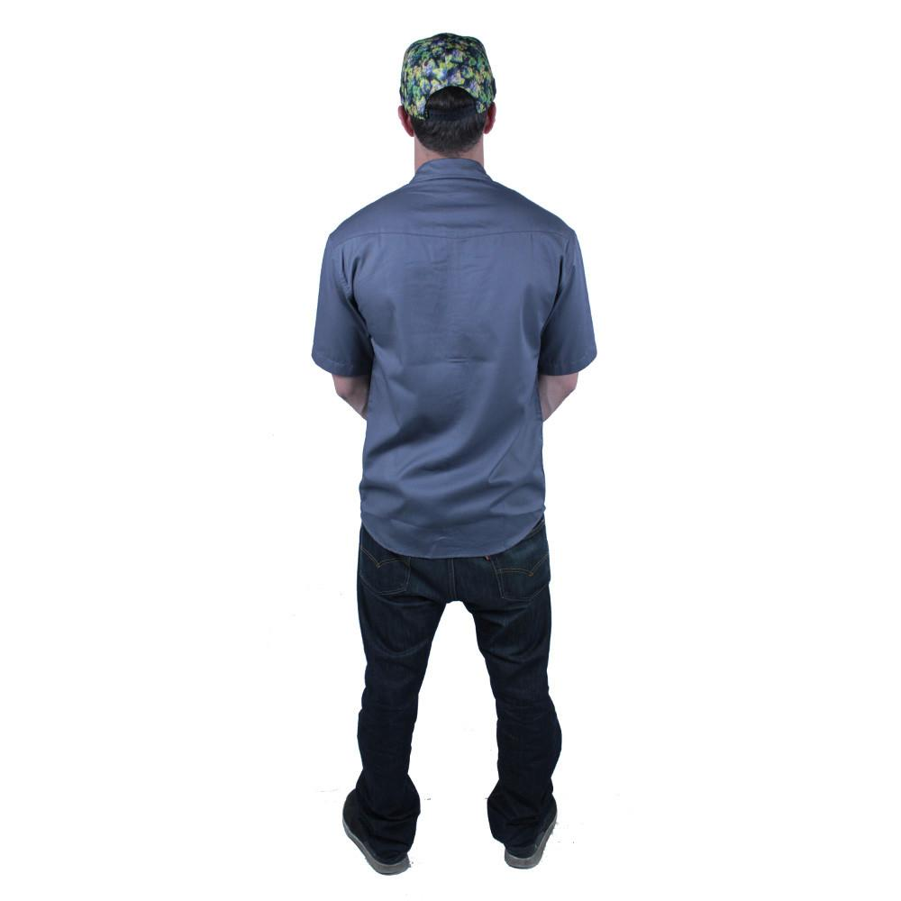 Oil Paint Weed Button Up Short Sleeve - Grassroots California - 3