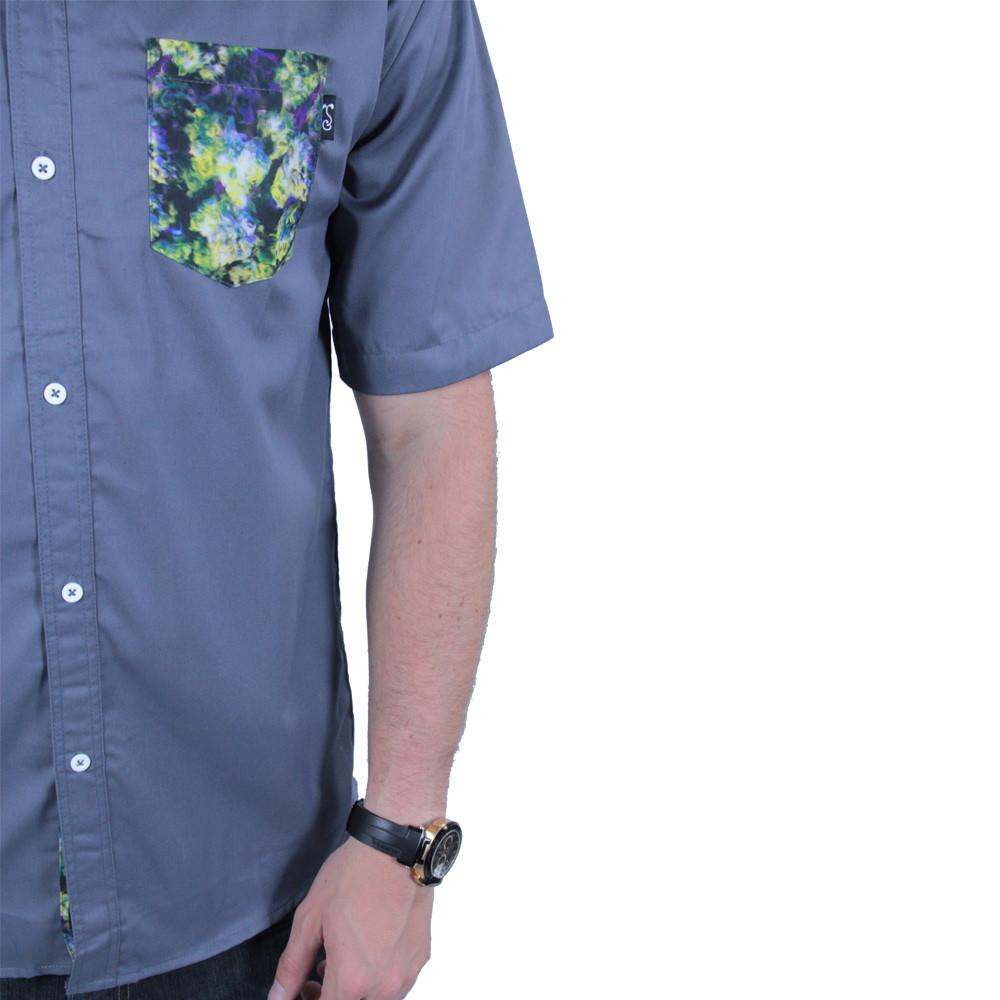 Oil Paint Weed Button Up Short Sleeve - Grassroots California - 5