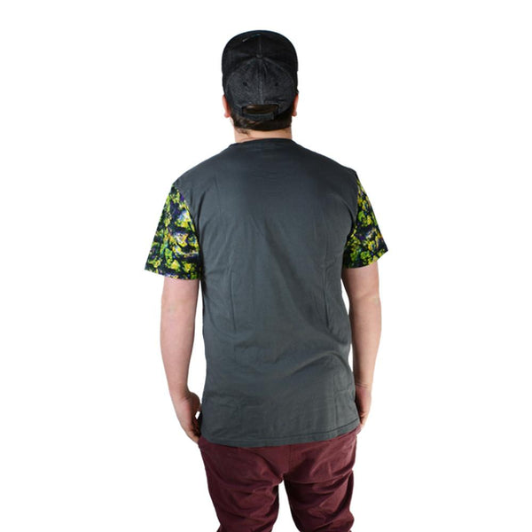 Oil Paint Weed Dark Gray Pocket T Shirt - Grassroots California - 2