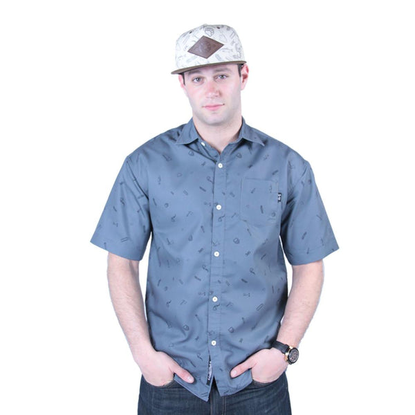 Bear Scout Charcoal Button Up Short Sleeve - Grassroots California - 2