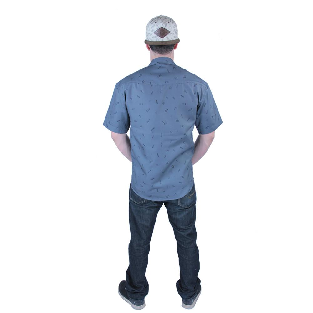 Bear Scout Charcoal Button Up Short Sleeve - Grassroots California - 4